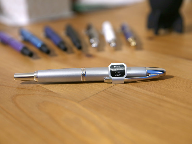 Pilot Capless Fountain Pen – Silver Barrel