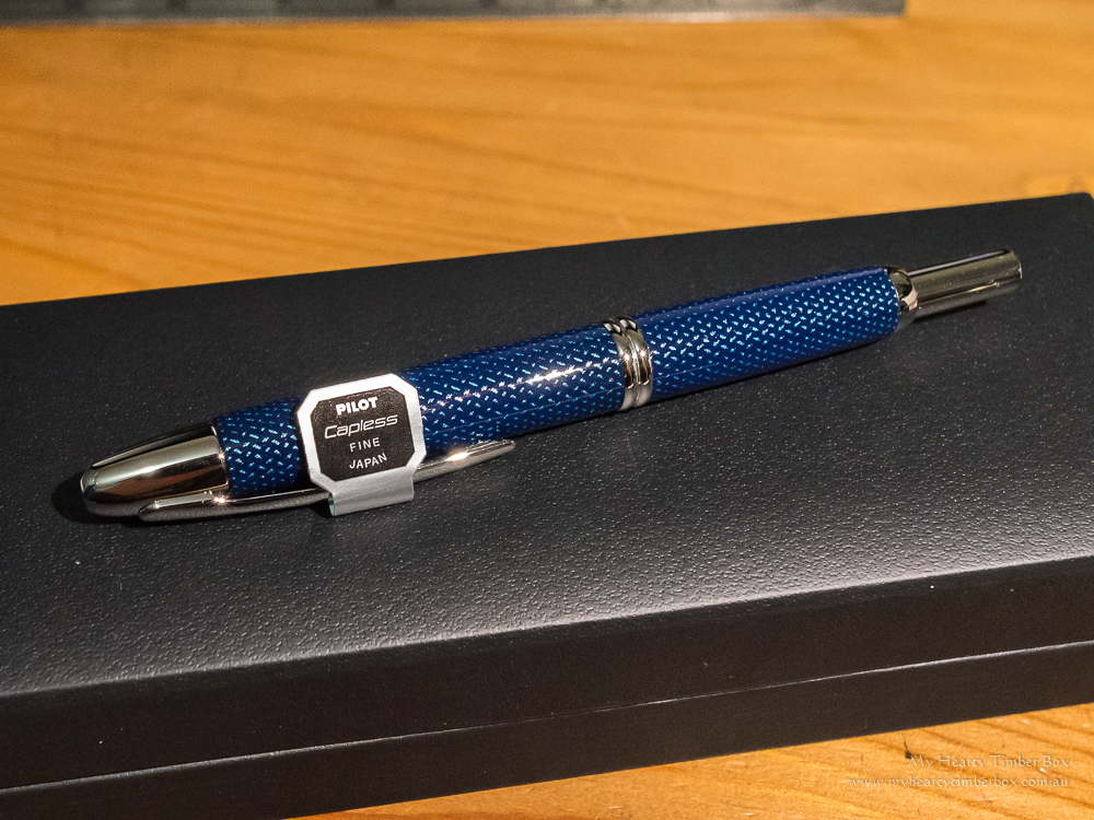 Pilot Capless Fountain Pen – Splash Blue (Fine Silver Nib)
