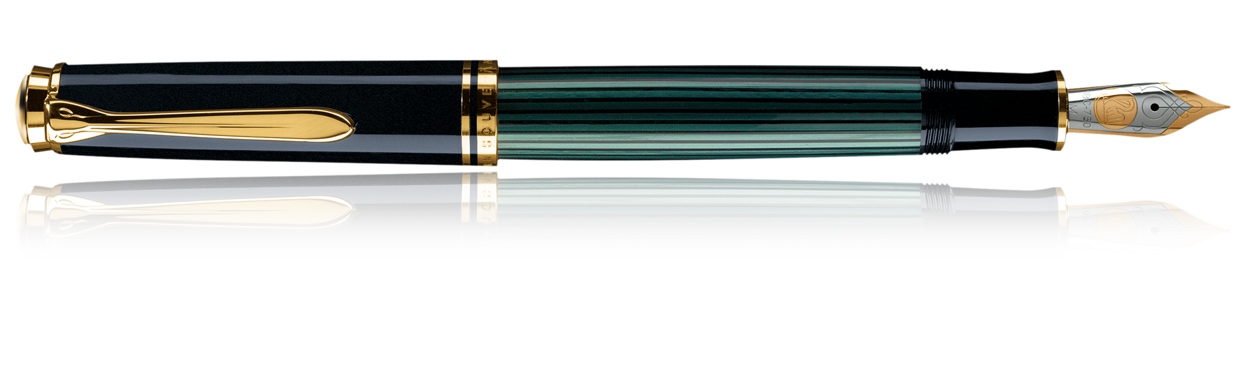 Pelikan Souverän Black/Green (gold trim) Fountain Pen