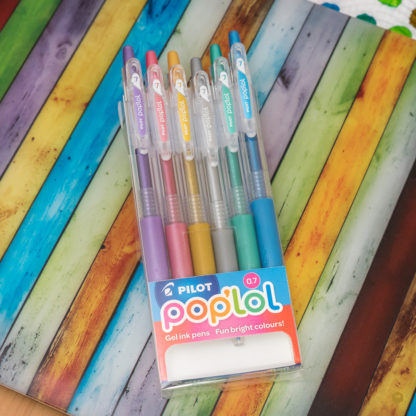 Pilot Pop'lol (Juice) Gel Pen 0.7mm (Set of 6) – Metallic